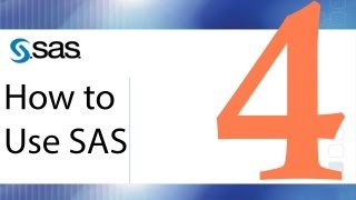 How to Use SAS - Lesson 4 - Merging Data Sets