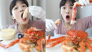 치즈소스 킹크랩 먹방 _ 토실토실 게살을 치즈소스에 퐁당🦀🧀 :D