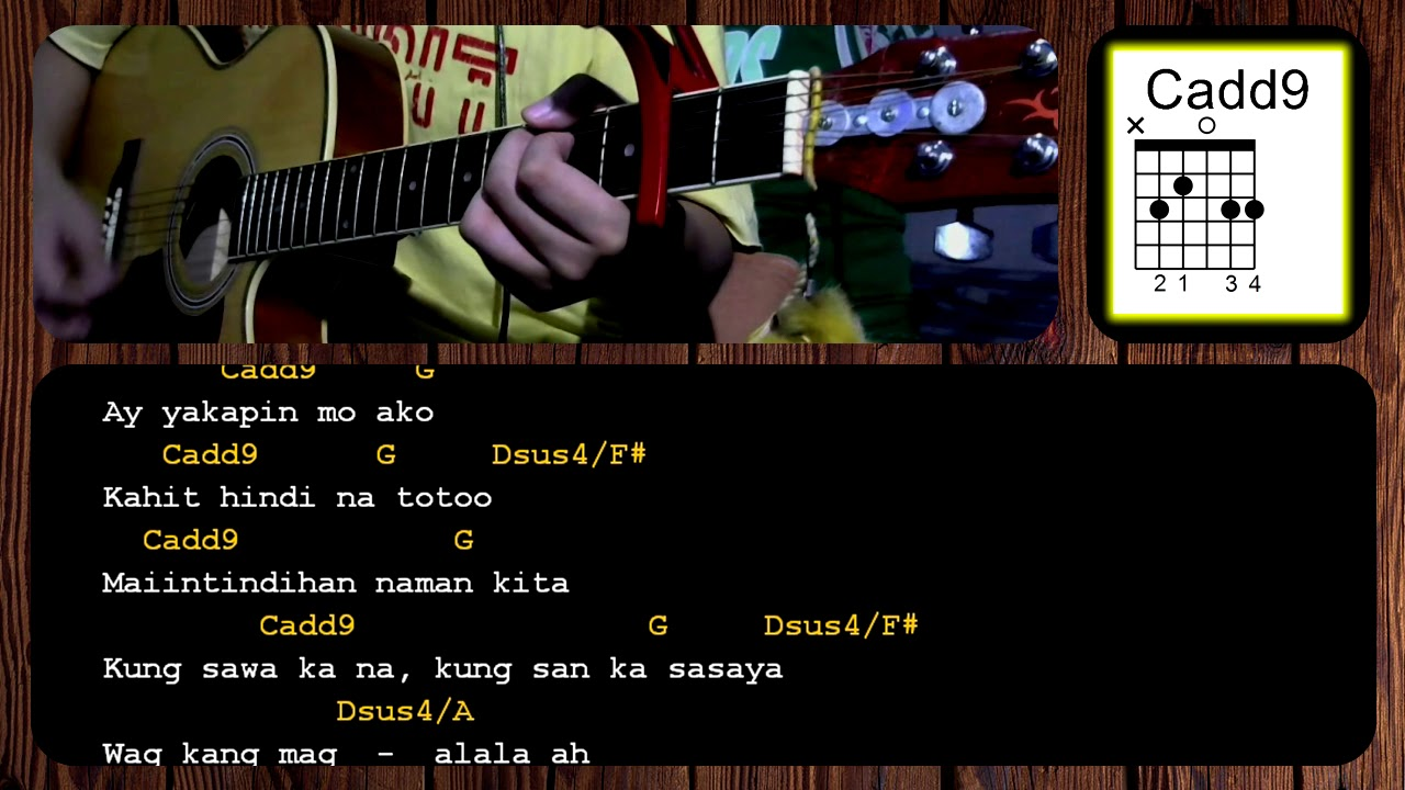 Oks Lang Ako By Jroa Acoustic Guitar Chords Tutorial Guitar Ace