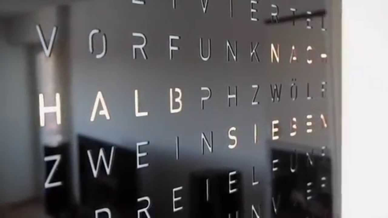 A selfmade wordclock inspired by Biegert & Funk (qlocktwo) - YouTube