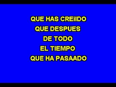 Karaoke Tu ya eres cosa del pasado - Fidel Rueda