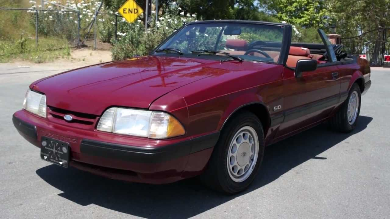 1988 ford mustang 5 0 lx convertible 1 owner