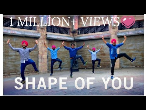 SHAPE OF YOU || PUNJABI BHANGRA STYLE || ED SHEERAN || ft. MITTRAN DE JUNCTION TE || DILJIT DOSANJH