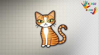 KUKU MUKU Как Нарисовать Кошку поэтапно для детей   как нарисовать легко и просто