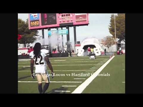 Las Vegas Locos vs Hartford Colonials - Player Intros - Drew Willy - DeDe Dorsey