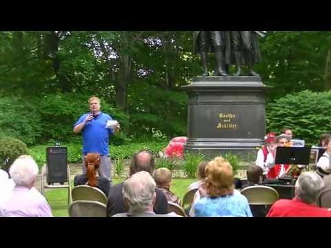 US and German anthems in Cleveland Cultural Garden