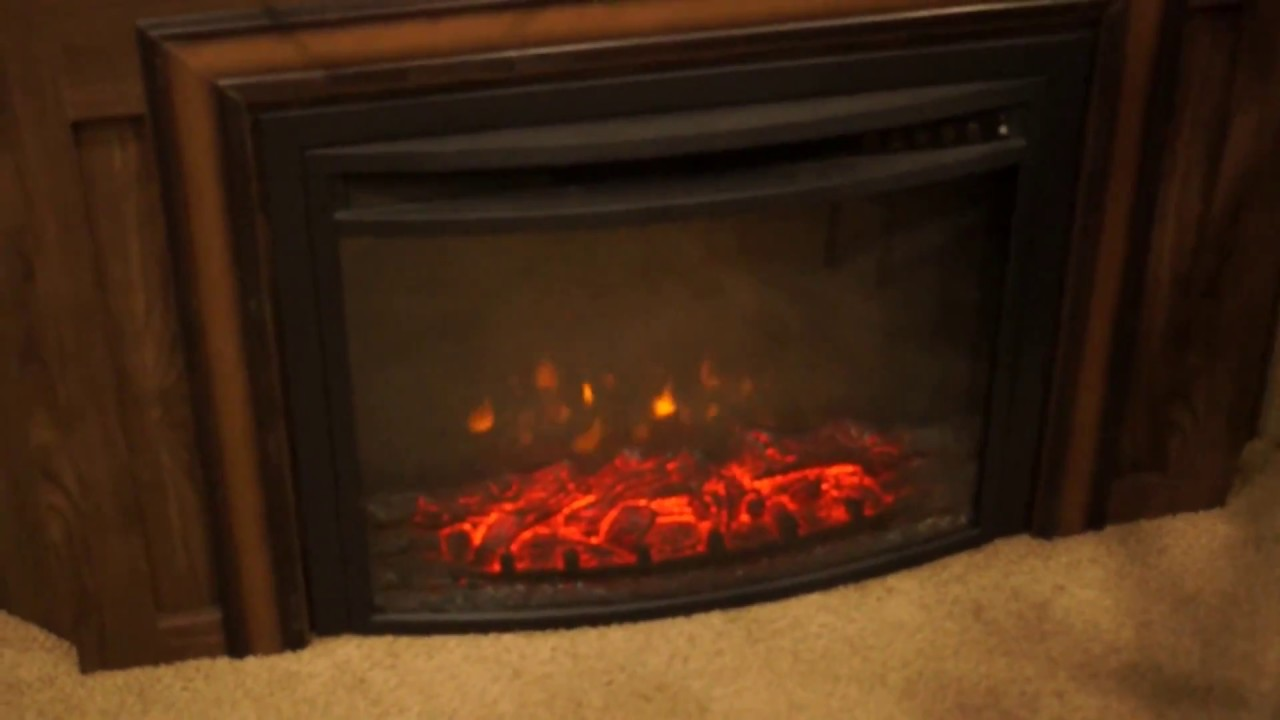 led fireplace insert in our rockwood windjammer youtube