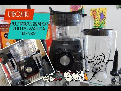 62dd53bee MULTIPROCESSADOR PHILLIPS WALLITA RI7632  UNBOXING - YouTube