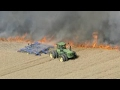 Farmer Saves The Field From Fire
