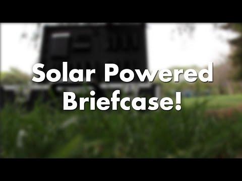 Solar Powered Briefcase!