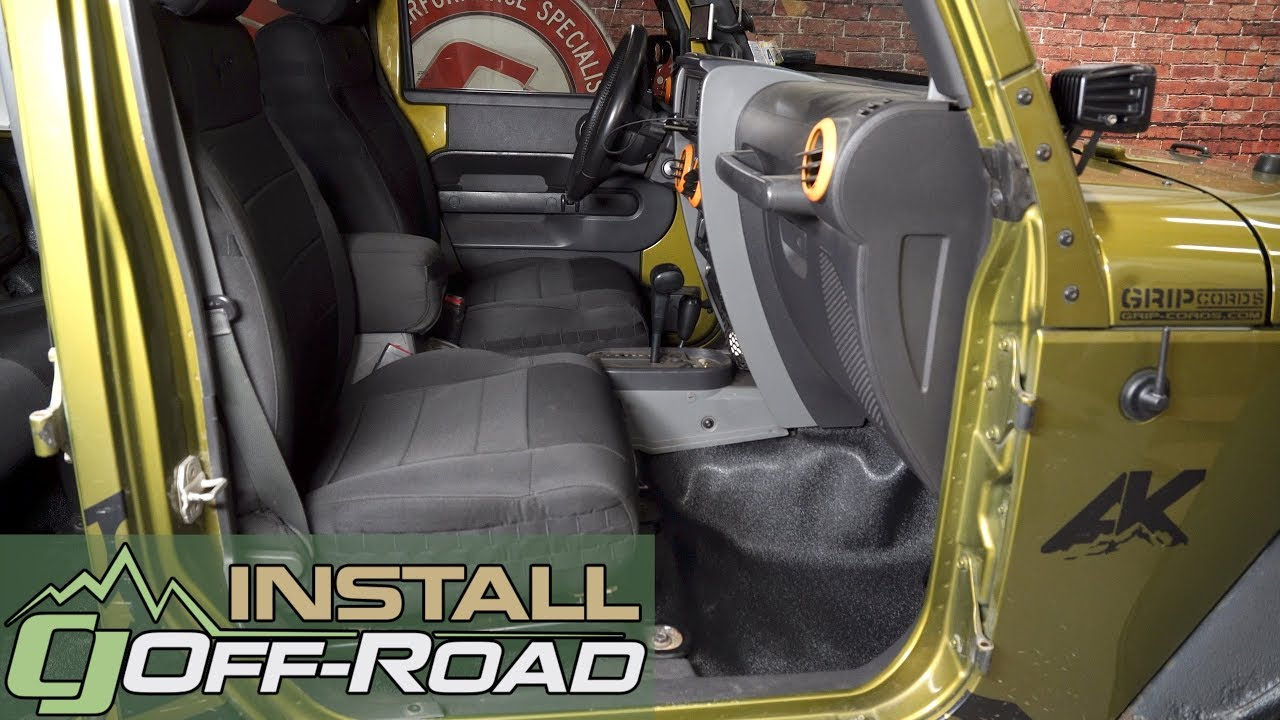 Jeep Wrangler Jk Acc Carpets Vinyl Flooring Kit Black Front Rear 4