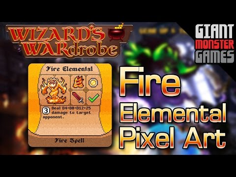 Fire Elemental Pixel Art - Final Boss Spell for Wizard's WARdrobe