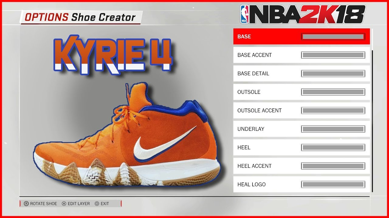 new concept 8f219 79ba5 NBA 2K18 Shoe Creator | Kyrie 4 Wheaties