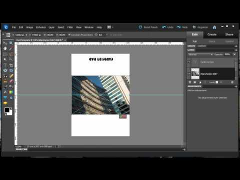 Create a Card Template In Photoshop Elements