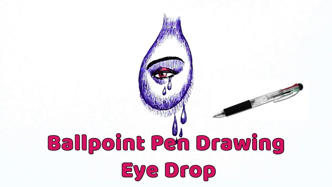 Ballpoint Pen Drawing Tutorials Collection | Drawings | Ball Pen Drawing  Techniques | Speed Drawing