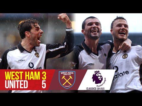 Premier League Classic | West Ham 3-5 Manchester United | 2001/02 | West Ham v Manchester United