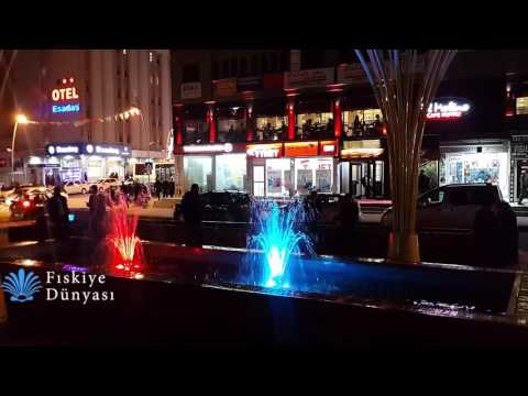 Erzurum Belediyesi Müzikli Danslı Fıskiye Simtemi Ve Camlı Misinalı Su Perdesi | Fıskiye Dünyası