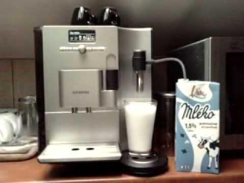 Siemens EQ7 TK Latte Macchiato separately after