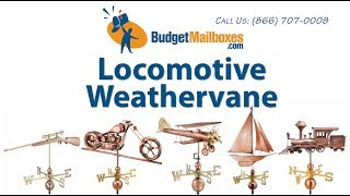 Budgetmailboxes.com | Good Directions 553p Locomotive Weathervane - Polished Copper