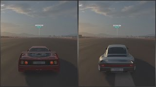 forza horizon 3 ferrari f40 vs porsche 959 1 mile top speed drag race