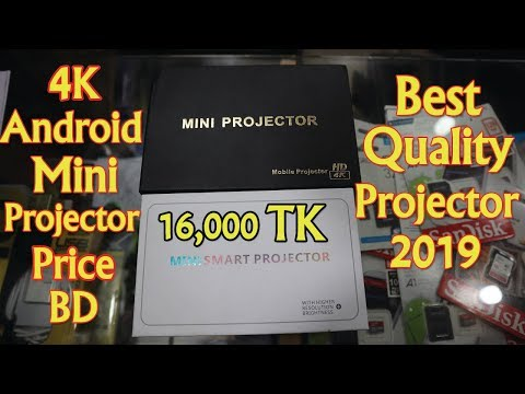Buy Best Quality 4K Android Mini Projector In BD 2019 || Mini Android Projector Unbox,Review,PriceBD