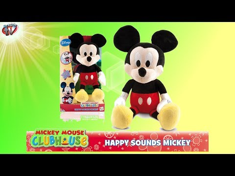 Disney Junior Mickey Mouse Clubhouse: Happy Sounds Mickey Soft Toy Review, IMC Toys