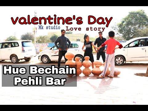 "Hue Bechain Pehli Baar  || Divyansh & Ishu Valentine""s Day || Mk Studio"