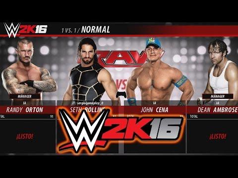 WWE 2K16 - Seth Rollins y John Cena en una Lucha Épica (Probando el Nuevo W2K16)