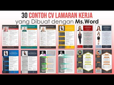 Contoh CV Lamaran Kerja yang Dibuat dengan Microsoft Word