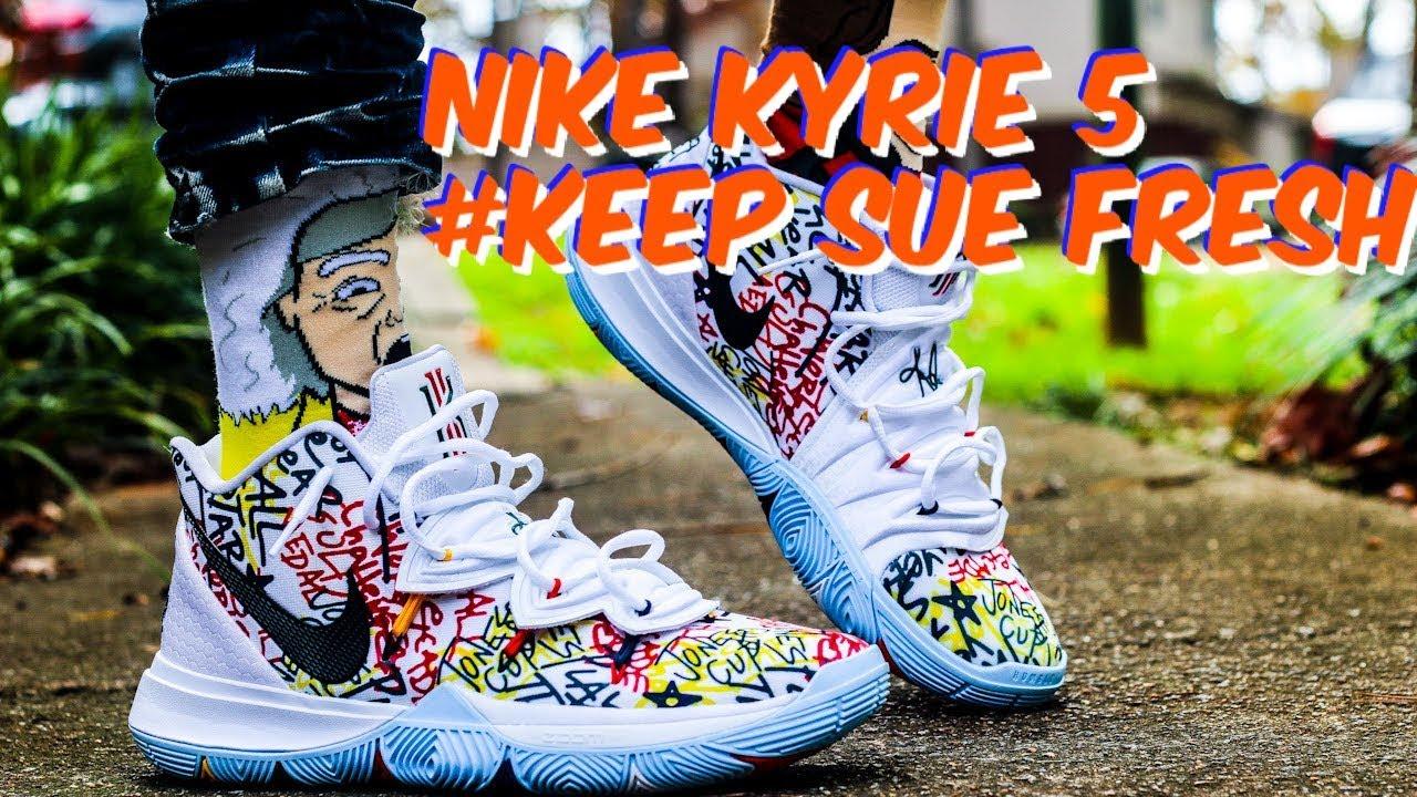NIKE KYRIE 5 KEEP SUE FRESH REVIEW \u0026 ON