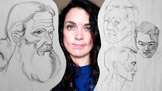 Watts Atelier Online Head Drawing Phase 3 - Week 40 - 5 & 10 Minute Drawings