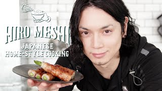 "#14 How To Cook ""PORK ASPARAGUS ROLL-UPS"" Japanese Home-Style Cooking / Hiro Mizushima(水嶋ヒロ)"