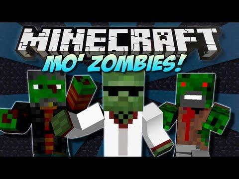 Minecraft | MO' ZOMBIES! (Zombie Notch & Herobrine!) | Mod Showcase [1.4.7]