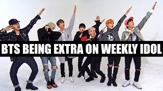 Download Video BTS BEING EXTRA ON WEEKLY IDOL MP3 3GP MP4