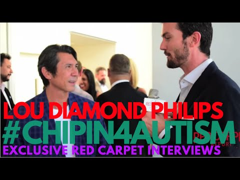 Interview with Lou Diamond Philips at Ed Asner & Friends Poker Tournament #ChipIn4Autism