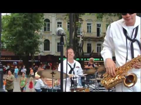 "US Navy ""Topside"" Band in Odessa, Ukraine"
