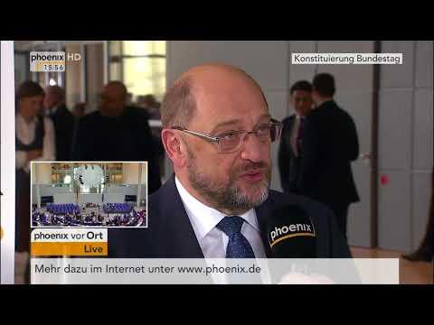 Martin Schulz zur konstituierenden Sitzung des Bundestages am 24.10.17