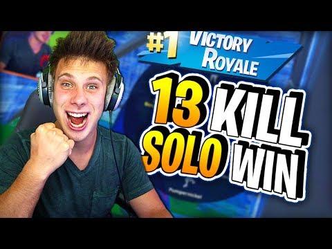 Solo 13 Kill Win Fortnite Cijela Runda