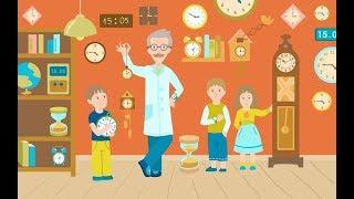 Учим время. Часы. Время. Для детей. Изучаем время. Развивающее видео