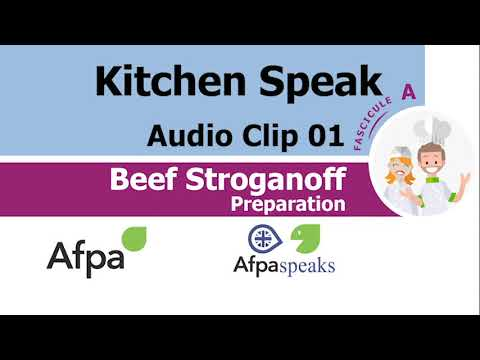 Clip 01 Preparation Beef Stroganoff