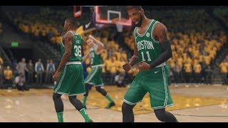 NBA Live 18: Warriors vs Celtics - OT Clutch, Kyrie Irving Does it Again