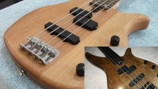 Fretted to fretless bass guitar conversion and refinish Yamaha RBX 270J