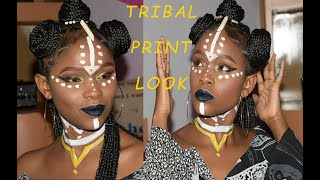 Gambar cover TRIBAL PRINT LOOK | MAKEUP BY DENNIS AFRICAN | BEAUTY BOOTH