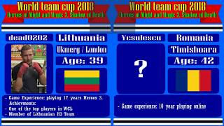 #42-2. Heroes 3. SoD. World Team Cup 2018. Dead0202 (Lithuania) vs Ycsulesu (Romania). 6lm10a