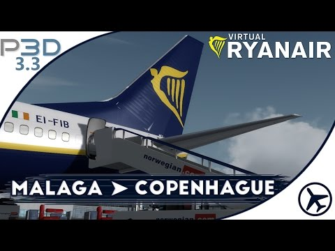 Recordando viejos tiempos...   AGP - CPH   P3D 3.3   Virtual Ryanair #15 [IVAO]