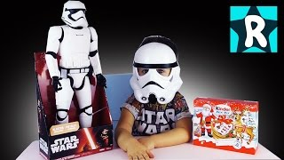 ★ Кукла ШТУРМОВИК Распаковка / Макси Киндер Сюрприз / Disney Star Wars Toy Stormtrooper