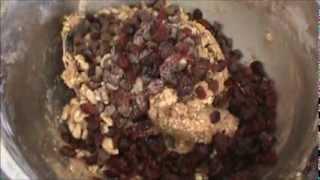 Chocolate Walnut Cranberry Oatmeal Cookies