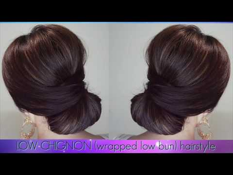 How to Easy and Elegant Low Bun Hairstyle