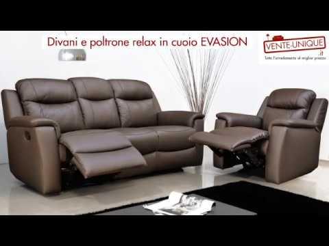 Divano In Pelle Denver.Divani E Poltrone Relax Evasion Youtube