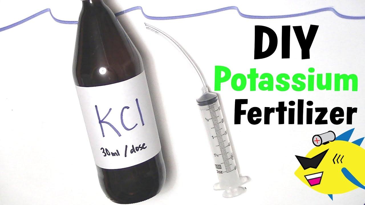 How To Make DIY Aquarium Plant Fertilizer Potassium